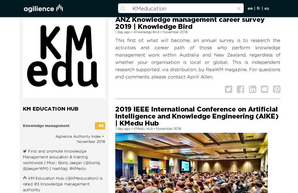 #3 Knowledge management authority